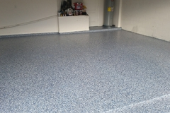 Color Flake Residential Epoxy Flooring Tampa