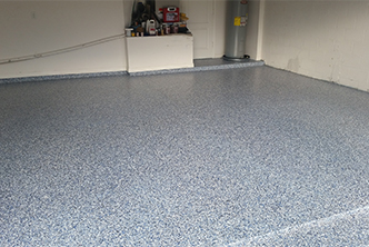 Image of Residential Epoxy Flooring Job in Tampa Using Color Flake System