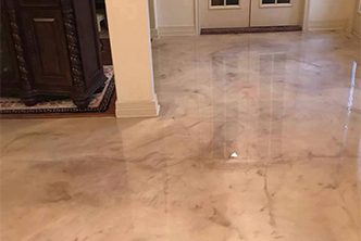 Image of Metallic Residential Epoxy Floor Coating Job in Tampa