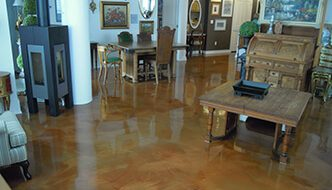 Picture of Residential Floor in Tampa with Epoxy Coating